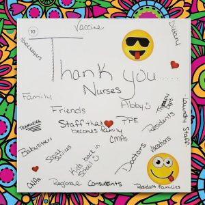 Thank you large post-it note